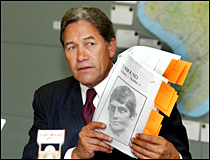 Winston Peters tabled a copy of 'Unbound' in Parliament. Picture / Mark Mitchell