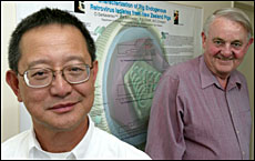 Living Cell's Paul Tan (left) and Bob Elliot.