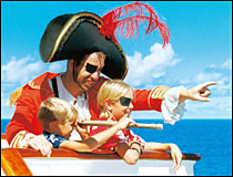 Playing pirates is one of the kid-friendly activities onboard.
