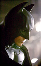 Christian Bale is the man in the mask for the new Batman movie.