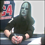 Slipknot drumer Joey Jordison. Picture / Cathy Aronson