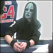 Slipknot drumer Joey Jordison. Picture / Cathy Aronson