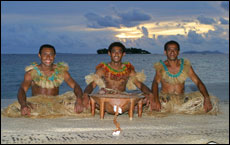 A kava ceremony at the Treasure Island resort.