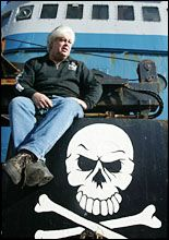 Soft-spoken Paul Watson embraces a pirate image. File picture / Paul Estcourt
