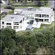 The Castor Bay mansion was built six years ago and has six bedrooms and five bathrooms.  Picture / Doug Sherring