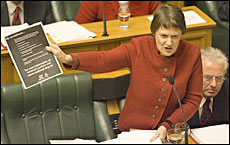 Helen Clark's move follows her threat last week to attack National's funding from anonymous sources. Picture / Mark Mitchell