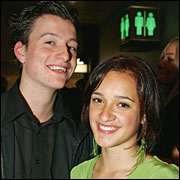 Keisha Castle-Hughes, pictured with boyfriend Bradley Hull last year.  Picture / Brett Phibbs
