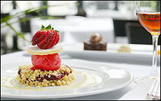 Cibo's witty update of an old favourite - strawberry and raspberry sorbet with crumbs of shortcake. Picture / Babiche Martens
