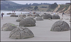 The Moeraki boulders, south of Oamaru. Picture / Mark Mitchell
