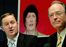 John Key with Don Brash during last year's election campaign. Picture / Kenny  Rodger