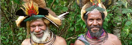 The people of Papua New Guinea were marvellously friendly. Photo / Jim Eagles