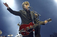 Neil Finn performs with his new Crowded House in California on Sunday. Photo / Reuters