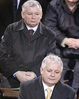 Poland's Kaczynski twins - President Lech and Prime Minister Jaroslaw - have launched a campaign to deal with the country's communist demons. Photo / Reuters