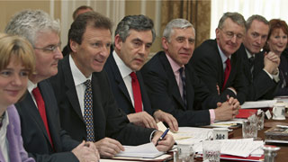 On his first day as British PM, Gordon Brown has assembled an impressive Cabinet. Photo / Reuters