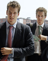 Judge Douglas Woodlock has said the ConnectU case, bought by the Winklevoss twins, is thin at best. Photo / Reuters
