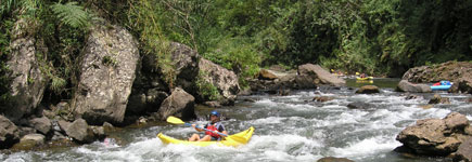 A kayak down the 'Luva River is very Romancing the Stone. Photo / Rivers Fiji