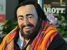 Luciano Pavarotti in Auckland in 2005. Photo / Herald on Sunday