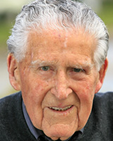 Former All Black coach Fred Allen, 87, will attend Battle of Passchendaele commemorations in Belgium. Picture/ Martin Sykes.