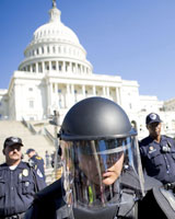 About 4000 anti-war protesters demonstrated in Washington yesterday. Police arrested 197. Photo / Reuters