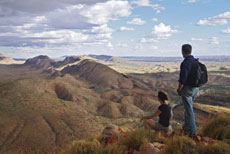 The Larapinta Trail traverses some of the most ancient land in the world.