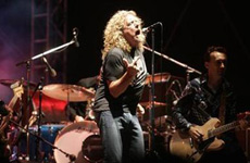 Robert Plant of Led Zeppelin on stage in July. Photo / Reuters