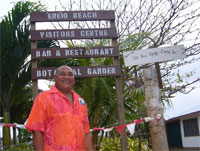 Haniteli Fa'anunu has created the `Ene'io Botanical Garden entirely with his own funds. Photo / Jim Eagles