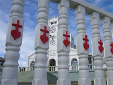 Religious architecture with a Tongan angle. Photo / Jim Eagles