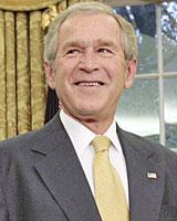 US President George W. B