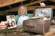 Caleb Fryatt wants to contact relatives of the people who left the treasure trove. Photo / Bay of Plenty Times