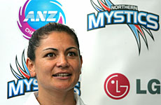 Temepara George plans to divide her time during the netball season between Auckland and Townsville. Photo / Brett Phibbs