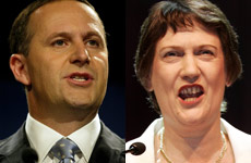 John Key and Helen Clark are totally at odds on the merit of the Electoral Finance Bill.