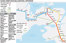Click to view Herald graphic: Auckland's $1.6 billion rail upgrade