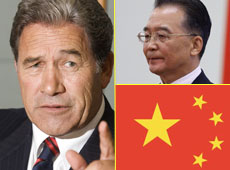 The Chinese free trade deal jeopardises New Zealand's manufacturing sector, foreign minister Winston Peters said today. Photo / Mark Mitchell / Reuters