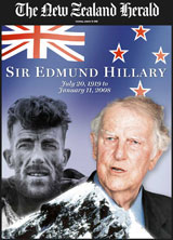 Tomorrow in the Weekend Herald, a special 8-page liftout on the life of a great New Zealander - Sir Edmund Hillary
