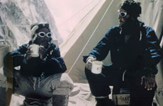 Sir Edmund Hillary and Sherpa Tenzing after conquering Mt Everest in 1953.