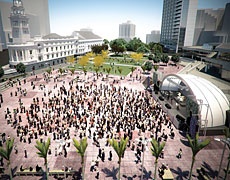 The proposed changes at Auckland's Aotea Square are aimed at hosting premier events and concerts and would include planting native trees.