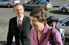 Tony Blair and New Zealand Prime Minister Helen Clark. Photo / Dean Purcell