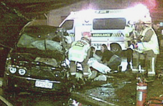 A scene of chaos greeted emergency services when they arrived at the crash that killed Yan Liu on her wedding day. One side of the BMW car was torn off in the accident. Photo / Colin Sue
