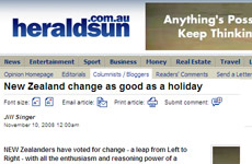 Melbourne's Herald Sun got stuck in to Kiwis.