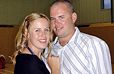 Hayden Stockwell thinks about his wife Rebecca every day. Photo / Supplied