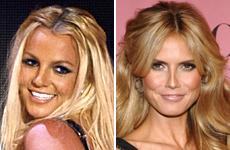 Britney Spears and Heidi Klum. Photos / Reuters