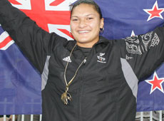 World champion shot put thrower Valerie Vili became the first athlete in 10 years to win the supreme Halberg award. Photo / Mark Mitchell
