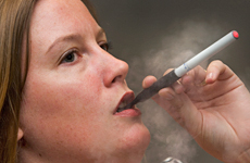 The new E-Cigarette does extinguish Brooke Donovan's need for nicotine. Photo / Paul Estcourt