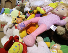 Mountains of toys do not a tidy home make. Photo / AP
