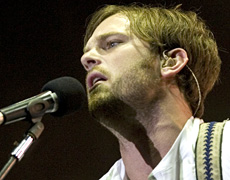 Caleb Followill's chat stuck to the cliches, but at least he was talking to his audience. Photo / Richard Robinson