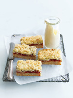 Rhubarb crumble slice. Photo / Supplied