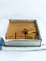 Ginger crunch slice. Photo / Supplied