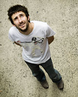 Mark Watson jerks and jitters his way into the hearts of his audience. Photo / Supplied