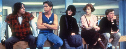 The teens in 1985's 'The Breakfast Club' paid for their errant behaviour with a stint in detention. Photo / Supplied