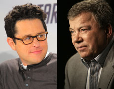 Star Trek maker JJ Abrams and William Shatner.